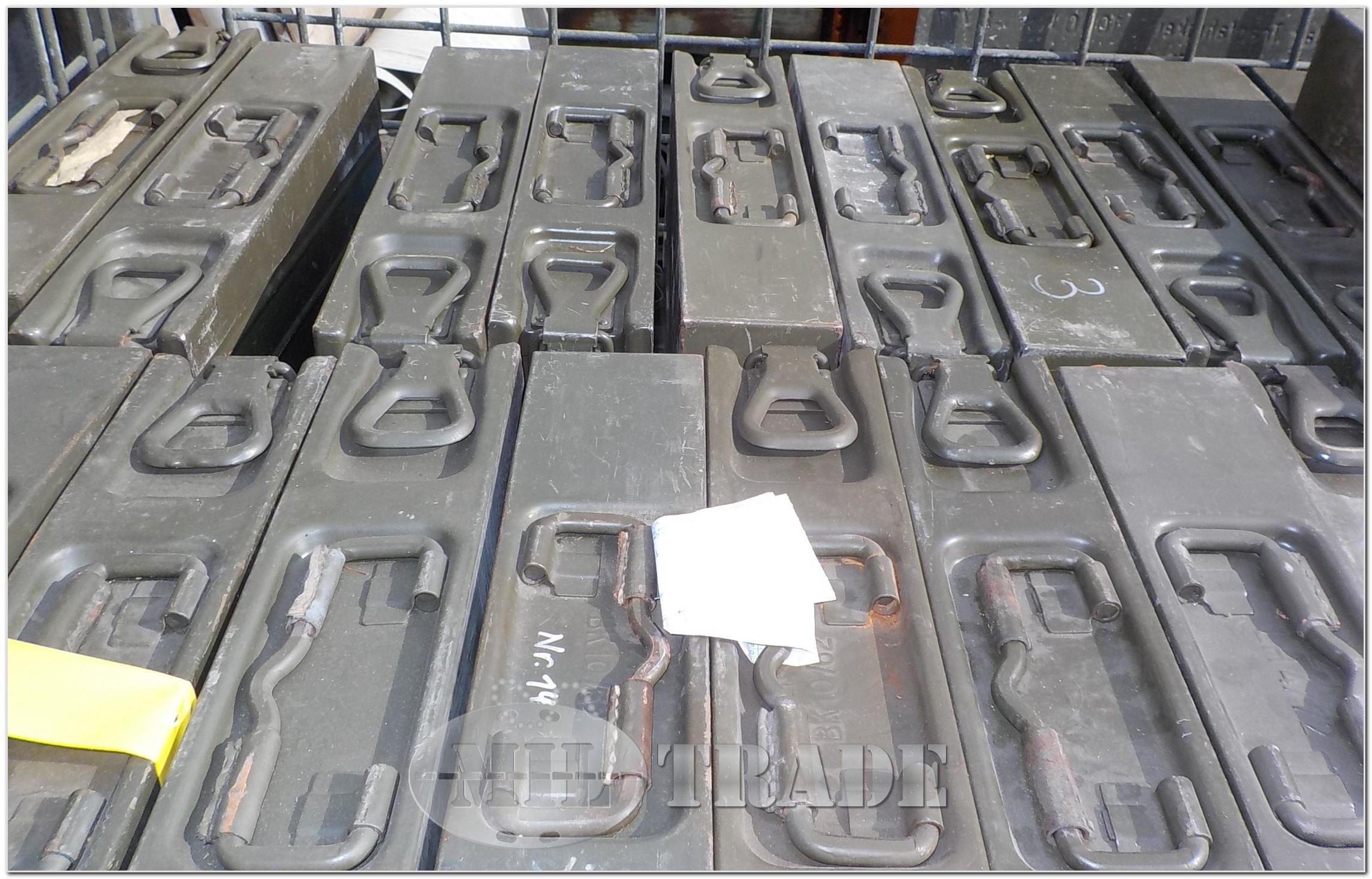 miltrade - bundeswehr gurtkiste gurtkasten munitionskiste für mg3