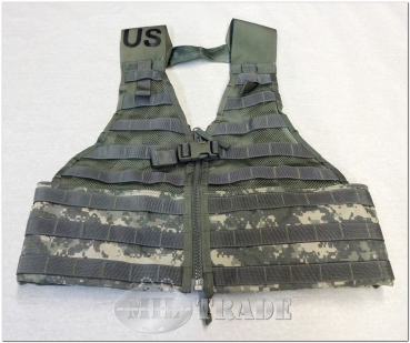 ORIGINAL U.S. Army Modular Lightwight Fighting Load Carrying Vest Weste Molle II ACU-Tarn