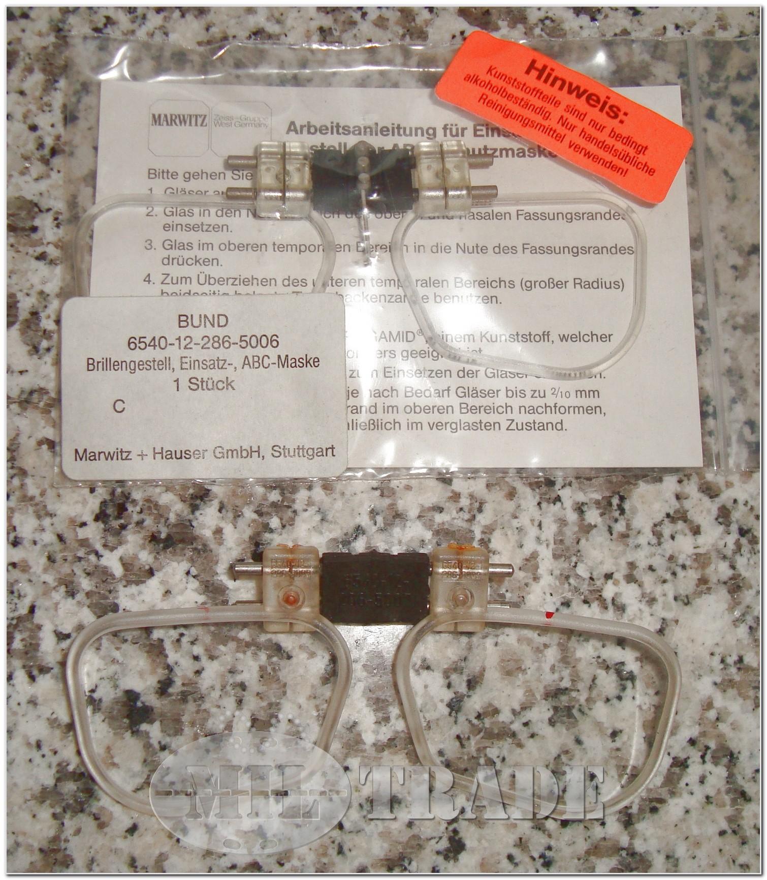 MilTrade - BW Brillengestell, Einsatz-, für ABC Maske ...