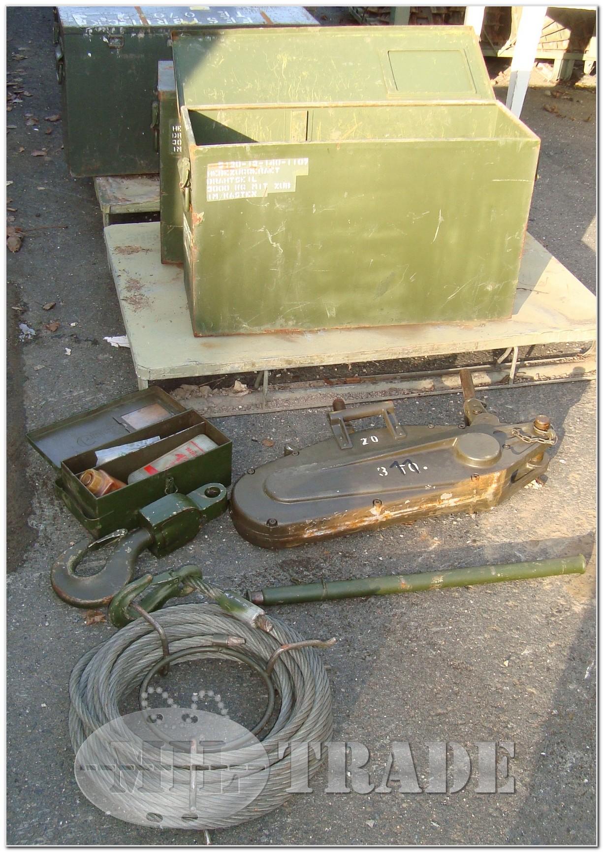 MilTrade - BW Greifzug 3,0t Hebezeug Seilwinde 30 KN mit Stahlseil ...