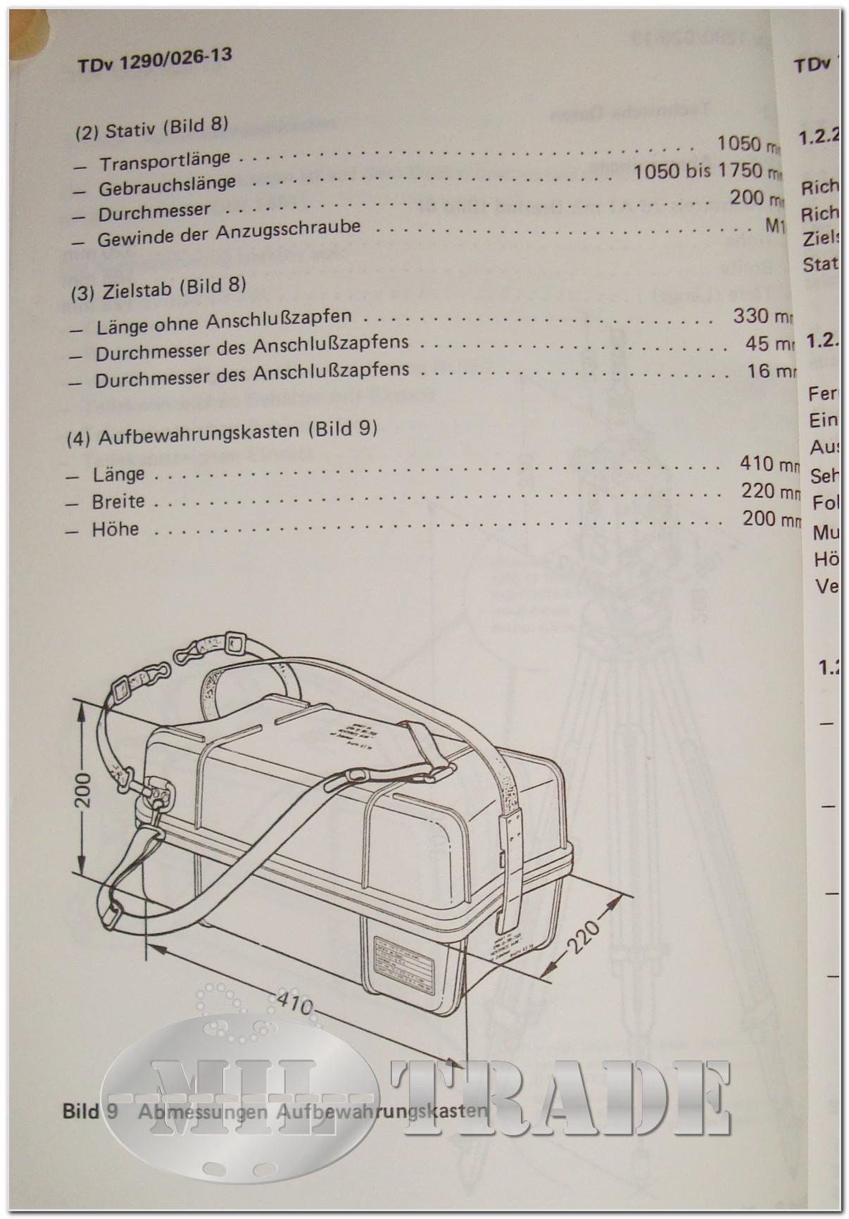 miltrade zeiss richtkreis theodolit auf dreifuss rk 76 a1 mit dreifu zielstab und stativ. Black Bedroom Furniture Sets. Home Design Ideas