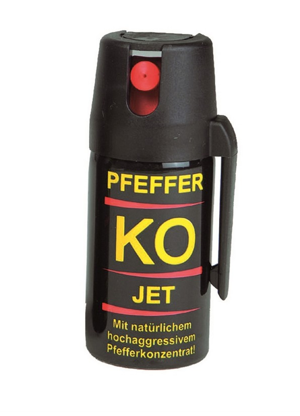miltrade pfeffer spray ballistol k o jet 40 ml auch f r geschlossene r ume mit clip. Black Bedroom Furniture Sets. Home Design Ideas